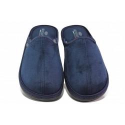 Мъжки домашни чехли, анатомични, български, леки, топли / Spesita 20-120 син / MES.BG