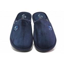 Български домашни чехли, мъжки, анатомични, олекотени, ватирани, гъвкави / Spesita 640 син / MES.BG
