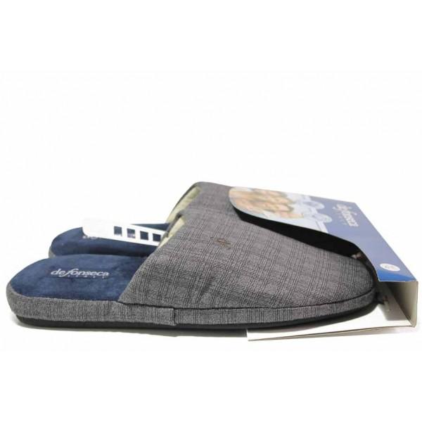 Мъжки домашни чехли, гъвкави, леки, анатомични, меки / Defonseca ROMA TOP I M642 сив / MES.BG