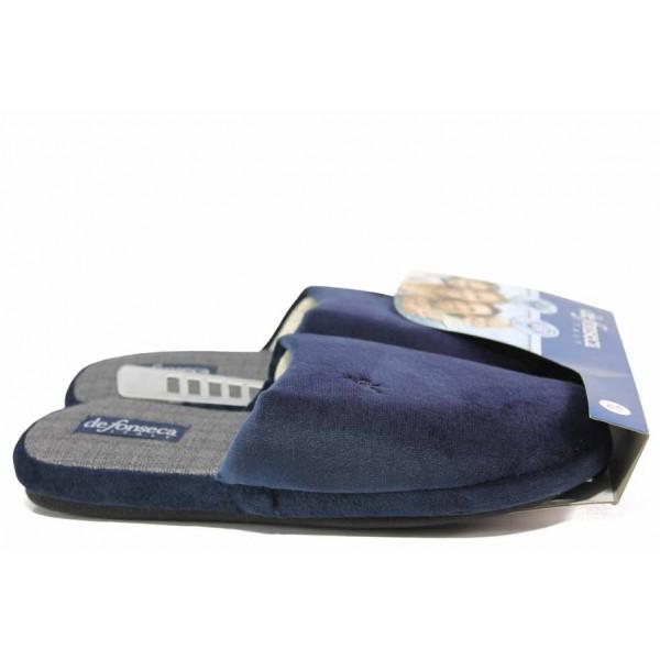 Български домашни чехли, мъжки, анатомични, олекотени / Defonseca ROMA TOP I M642 син / MES.BG
