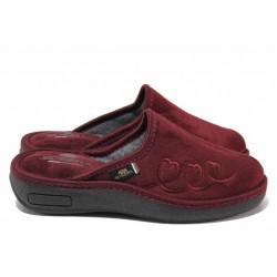 Домашни чехли, дамски, анатомични, български, високо ходило, топли / Spesita 20-105 бордо / MES.BG