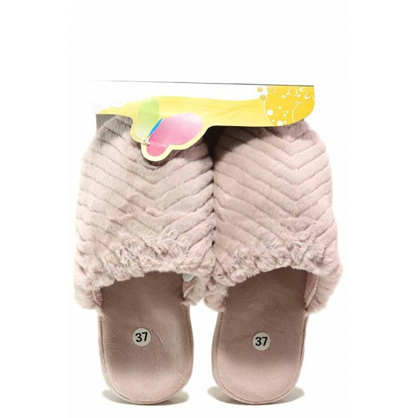 Пухкави домашни чехли, дамски, анатомични, олекотени / Bulldozer 20-5 розов / MES.BG