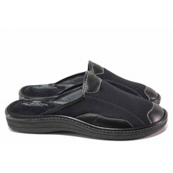 Домашни чехли, мъжки, топли, анатомични, български / Spesita 20-133 черен / MES.BG