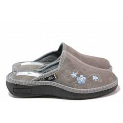 Анатомични дамски чехли на доказан български производител / Spesita 20-106 сив / MES.BG