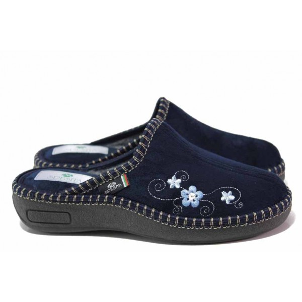 Анатомични дамски чехли на доказан български производител / Spesita 20-106 син / MES.BG