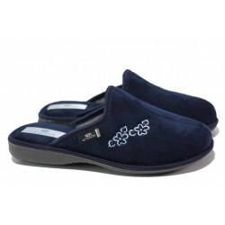 Анатомични дамски домашни чехли с гъвкаво ходило / Spesita Benina син / MES.BG