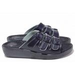 Анатомични дамски чехли с масажно ходило и каишки за регулиране на ширината / Spesita 116 син / MES.BG
