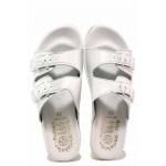 Анатомични български чехли с каишки за регулиране на ширината / Spesita 115-2 бял / MES.BG