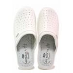 Анатомични български чехли със стелка от естествена кожа / Spesita 429 бял / MES.BG