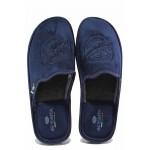 Топли мъжки домашни чехли с анатомично ходило / Spesita 20-127 син / MES.BG