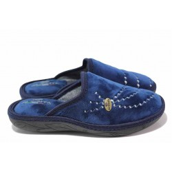 Анатомични домашни чехли, топли и удобни / Spesita 20-109 син / MES.BG