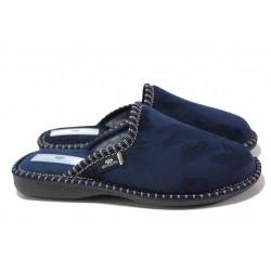 Удобни дамски домашни чехли с анатомично ходило / Spesita 17-172 син / MES.BG