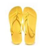 Бразилски анатомични чехли, лента между пръстите, висококачествен PVC материал / Ipanema 82591 жълт / MES.BG