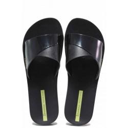 Дамски бразилски чехли с цяла лента, гъвкаво ходило с плавна анатомична извивка / Ipanema 26366 черен / MES.BG
