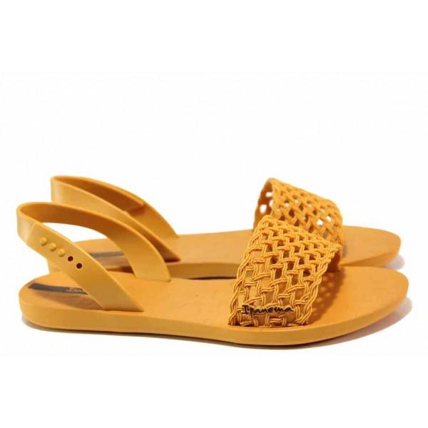 Раввни бразилски сандали, анатомични, тик-так закопчаване / Ipanema 82855 карамел / MES.BG
