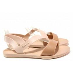 Дамски анатомични сандали, изключително леко, гъвкаво и еластично ходило / Ipanema 82429 розов металик / MES.BG