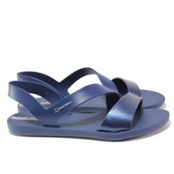 Бразилски дамски сандали, гъвкаво и еластично ходило, анатомични / Ipanema 82429 син металик / MES.BG