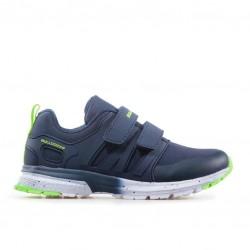 Дишащи детски маратонки с велкро лепенки / Bull 92001 син-зелен / MES.BG