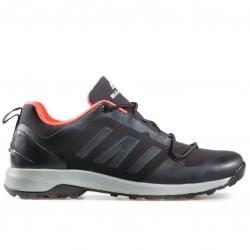 Комфортни мъжки маратонки с връзки / Bull 92007 черен-оранжев / MES.BG