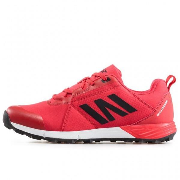 Олекотени мъжки маратонки с връзки / Bull 92011 червен / MES.BG