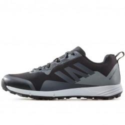 Мъжки текстилни маратонки с връзки / Bull 92017 черен-св.сив / MES.BG