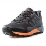 Комфортни мъжки маратонки с връзки / Bull 92017 черен-оранжев / MES.BG