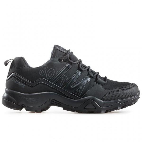 Мъжки непромокаеми маратонки, допълнително подсилени при пръстите / Bull 92041 черен / MES.BG