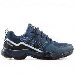 Мъжки непромокаеми маратонки, допълнително подсилени при пръстите и петата / Bull 92041 син / MES.BG