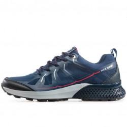 Мъжки маратонки с дебела подплата, допълнително подсилени при пръстите и петата / Bull 92044 син-червен / MES.BG