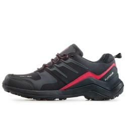 Мъжки водоустойчиви маратонки с гумен протектор при пръстите / Bull 92051 черен-червен / MES.BG