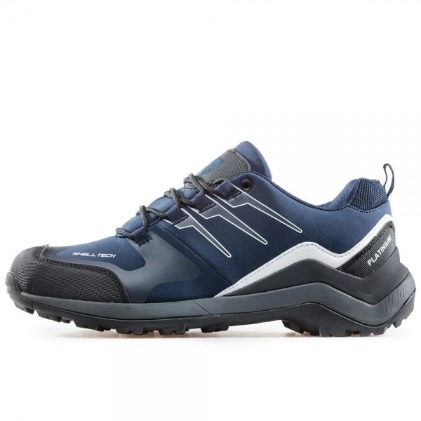 Мъжки водоустойчиви маратонки с връзки и гумен протектор при пръстите / Bull 92051 син / MES.BG