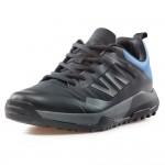 Комфортни мъжки маратонки с гумирано покритие / Bull 92061 черен-син / MES.BG