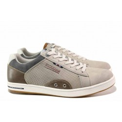 Стилни мъжки спортни обувки; връзки за пристягане при свода; свежа цветова комбинация / АБ RH 03-20 бежов / MES.BG