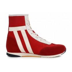 Високи дамски кецове, български, естествен велур и текстил, спортни обувки / МН Inma червен / MES.BG