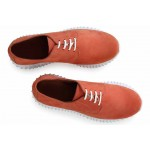 Спортни дамски обувки, български, естествена кожа, класически / МН Olga охра / MES.BG