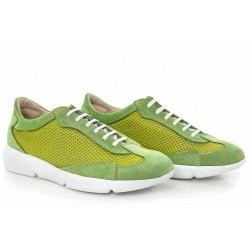 Спортни дамски обувки, български, естествен велур, текстил, свежи / МН Susana зелен / MES.BG