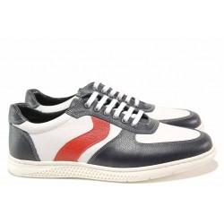 Мъжки ежедневни обувки, естествена кожа, леки, пластично ходило / МИ 252 томи / MES.BG