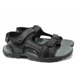 Мъжки сандали с велкро лепенки, висококачествени материали, анатомични / АБ RL06-20 черен гигант / MES.BG