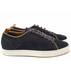 Анатомични мъжки обувки, естествен велур, спортен модел, ежедневни, български / Ани 2345 син / MES.BG