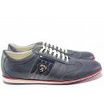 Спортни мъжки обувки, анатомични, естествена кожа, ежедневни, атрактивна цветова комбинация / Ани 1688 син / MES.BG