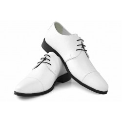Класически обувки, мъжки, български, изцяло от естествена кожа / МН Eduardo бял / MES.BG