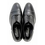 Официални мъжки обувки, естествена кожа, български, леки, гъвкави / МН James черен / MES.BG