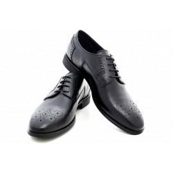 Мъжки български обувки, естествена кожа, елегантни / МН Lewis черенN / MES.BG