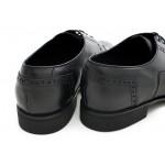 Класически мъжки обувки, елегантни, български, естествена кожа / МН Lewis черен / MES.BG