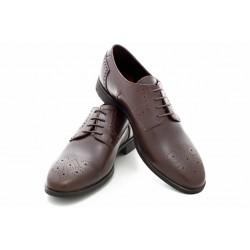 Български мъжки обувки, стилен дизайн, естествена кожа, гъвкаво ходило / МН Lewis т.кафяв / MES.BG