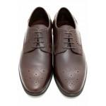 Български мъжки обувки, официални, естествена кожа / МН Lewis т.кафявN / MES.BG