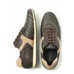 Мъжки обувки, спортни, естествена кожа, български, връзки, ежедневни / МН Larry кафяв / MES.BG