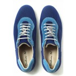 Мъжки спортни обувки, летни, висококачествен текстил, български / МН Matt син / MES.BG