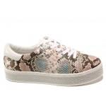 Дамски спортни обувки със змийски принт S.Oliver 5-23636-24 розов змия   Немски равни обувки   MES.BG