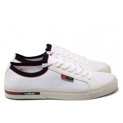 Мъжки спортни обувки S.Oliver 5-13620-24 бял | Мъжки немски обувки | MES.BG
